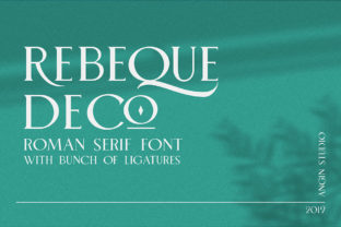 Print on Demand: Rebeque Deco Serif Font By Angin Studio
