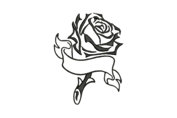 Rose Tattoo Bouquets & Bunches Embroidery Design By Embroidery Designs