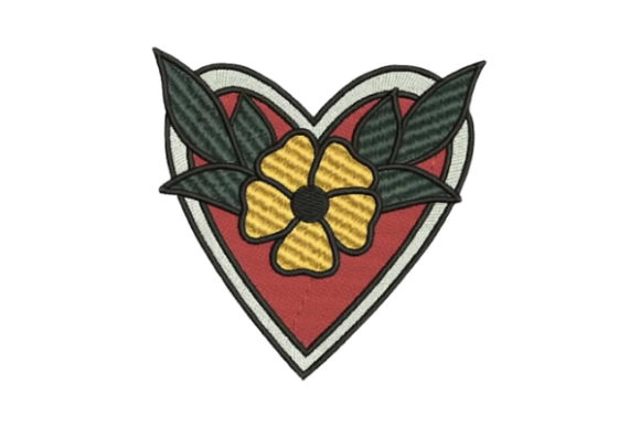 Sailor Tattoo Heart Beach & Nautical Embroidery Design By Embroidery Designs