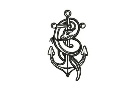 Sailor Tattoo Snake Beach & Nautical Embroidery Design By Embroidery Designs
