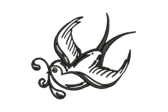 Download Free Sailor Tattoo Swallow Creative Fabrica for Cricut Explore, Silhouette and other cutting machines.