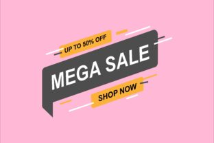 Sale Banner Vector Template - Mega Sale #2 Graphic Objects By tunasbangsa.project