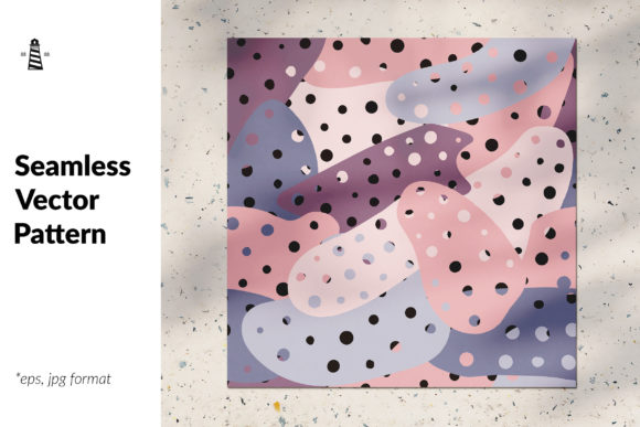 Print on Demand: Seamless Organic Forms Graphic Patterns By northseastudio