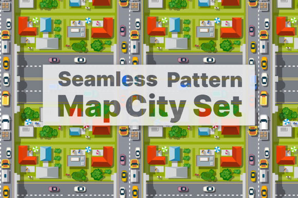 Download Free Seamless Pattern Map City Graphic By Alexzel Creative Fabrica for Cricut Explore, Silhouette and other cutting machines.