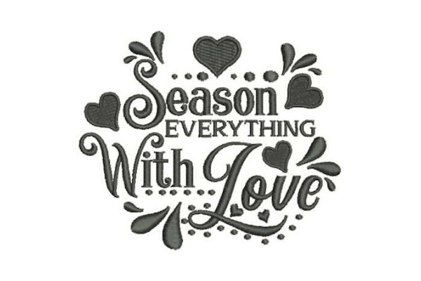 Download Free Season Everything With Love Creative Fabrica for Cricut Explore, Silhouette and other cutting machines.