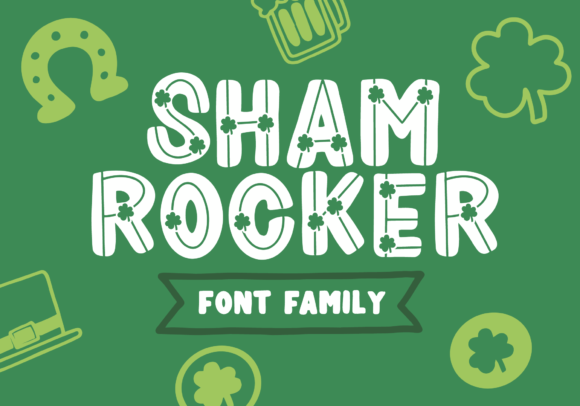 Print on Demand: Shamrocker Display Fuente Por The Pretty Letters