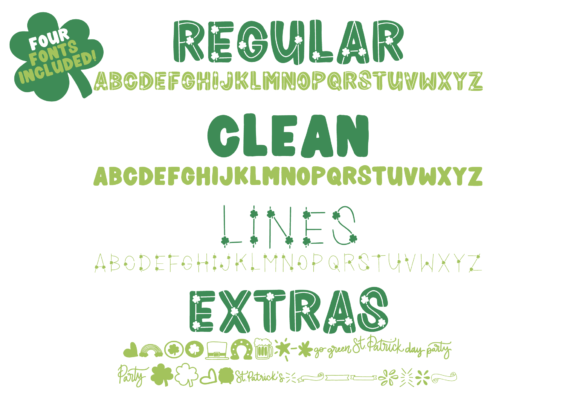 Print on Demand: Shamrocker Display Font By The Pretty Letters - Image 2
