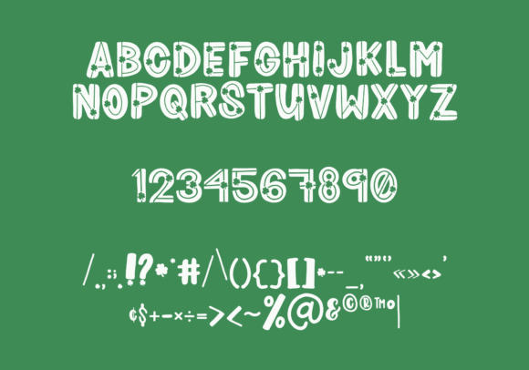 Print on Demand: Shamrocker Display Font By The Pretty Letters - Image 3