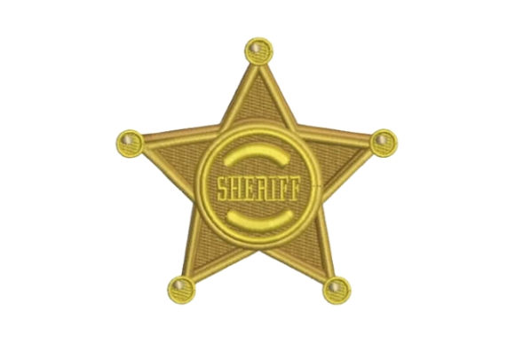 Sheriff Badge Cowboy & Cowgirl Embroidery Design By Embroidery Designs - Image 1