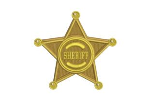 Sheriff Badge Cowboy & Cowgirl Embroidery Design By Embroidery Designs