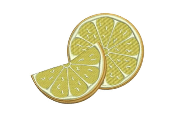 Sliced Lemon Food & Dining Embroidery Design By Embroidery Designs - Image 1