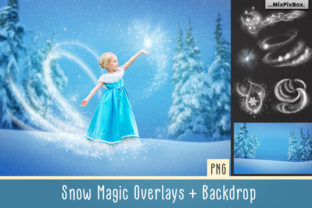 Print on Demand: Snow Magic Overlays Gráfico Estilos de capas Por MixPixBox
