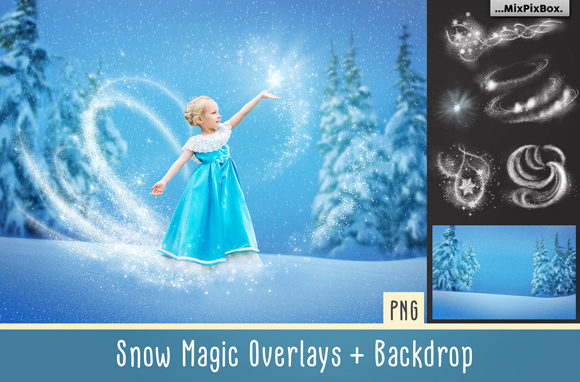 Print on Demand: Snow Magic Overlays Graphic Layer Styles By MixPixBox