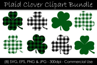 St. Patrick's Day Shamrock Graphic Objects By GJSArt 1
