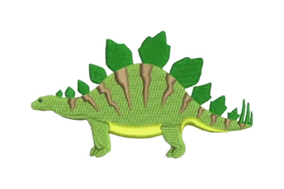 Stegosaurus Dinosaurier Stickdesign von Embroidery Designs