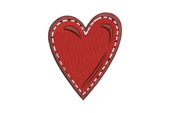 Stitched Heart Valentine's Day Embroidery Design By Embroidery Designs - Image 1