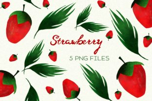 Print on Demand: Strawberry Fruit Berry Leaves Graphic Illustrations By Inkclouddesign