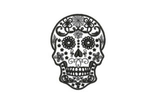 Sugar Skull Black Tattoo Mexico Embroidery Design By Embroidery Designs