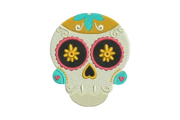 Sugar Skull Mexico Embroidery Design By Embroidery Designs - Image 1