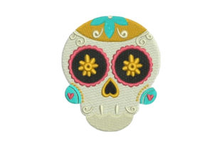 Sugar Skull Mexico Embroidery Design By Embroidery Designs
