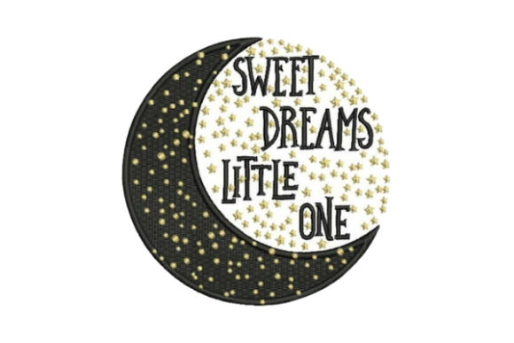 Sweet Dreams Little One Bed & Bath Embroidery Design By Embroidery Designs