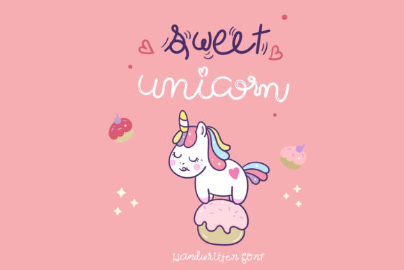 Download Free Sweet Unicorn Font By Vividdiy8 Creative Fabrica for Cricut Explore, Silhouette and other cutting machines.