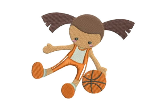 Toy Doll in Basketball Uniform Spielzeug & Games Stickdesign von Embroidery Designs