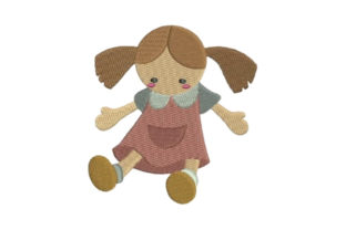 Toy Doll in School Uniform Toys & Games Embroidery Design By Embroidery Designs