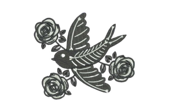 Traditional Style Tattoo Dove Birds Embroidery Design By Embroidery Designs - Image 1