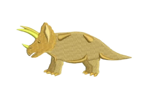 Triceratops Dinosaurier Stickdesign von Embroidery Designs