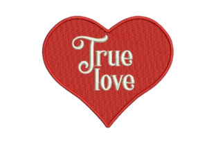 True Love Valentine's Day Embroidery Design By Embroidery Designs