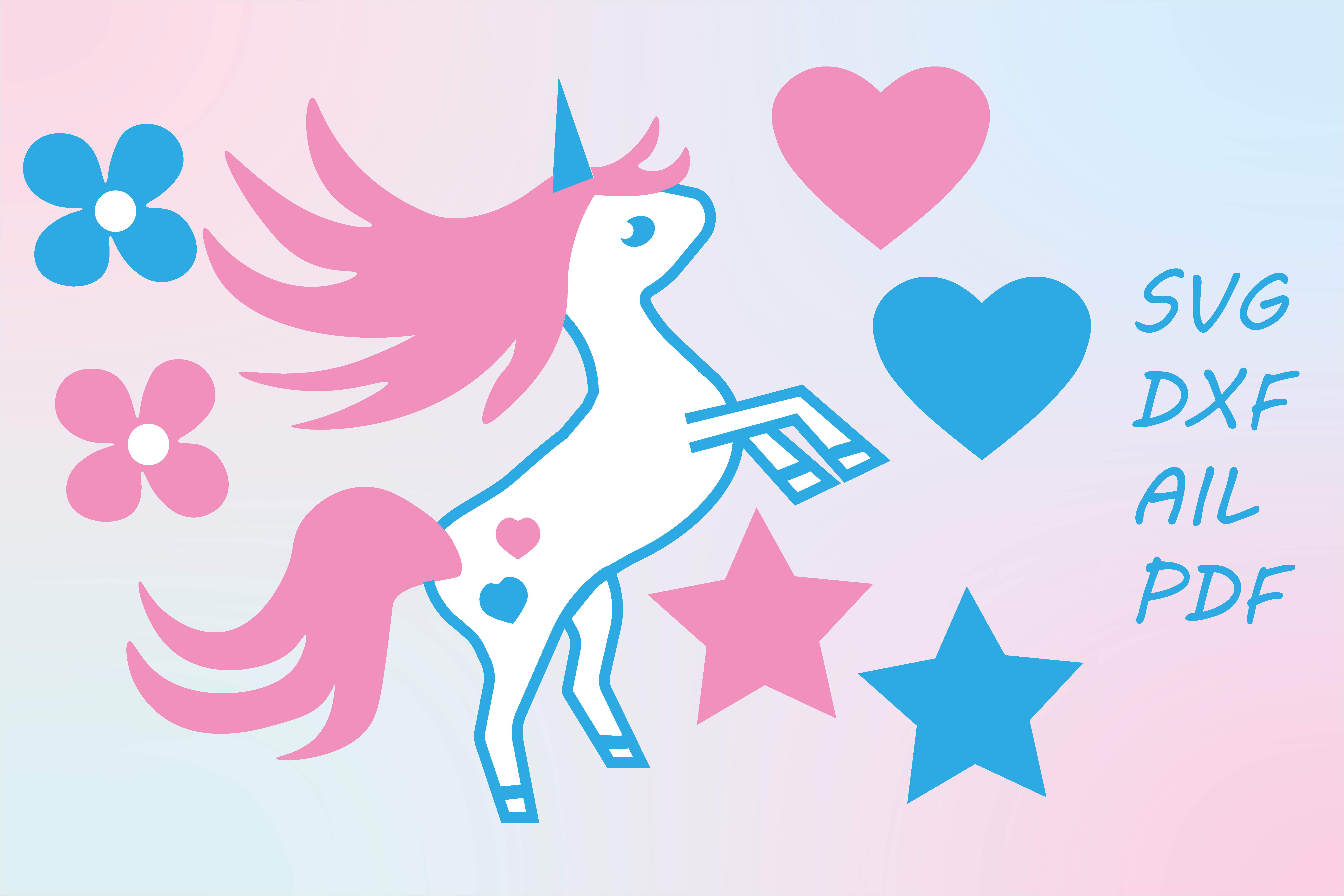 Download Free Unicorn Graphic By Tanja Dianova Creative Fabrica for Cricut Explore, Silhouette and other cutting machines.