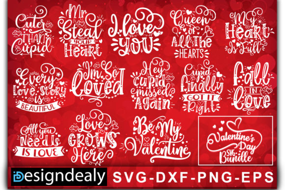 Print on Demand: Valentine Bundle Graphic Print Templates By Designdealy.com