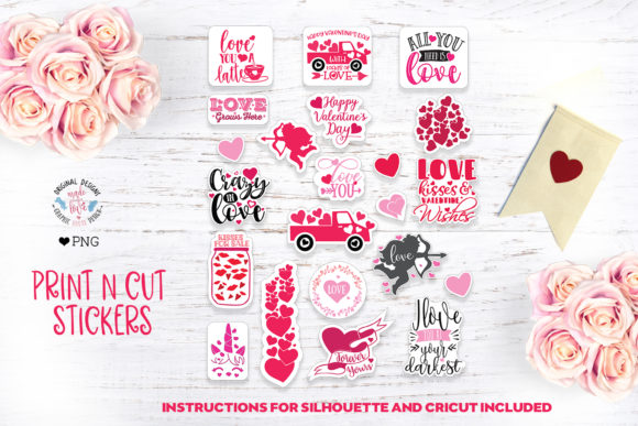 Print on Demand: Valentine Stickers Graphic Illustrations By GraphicHouseDesign