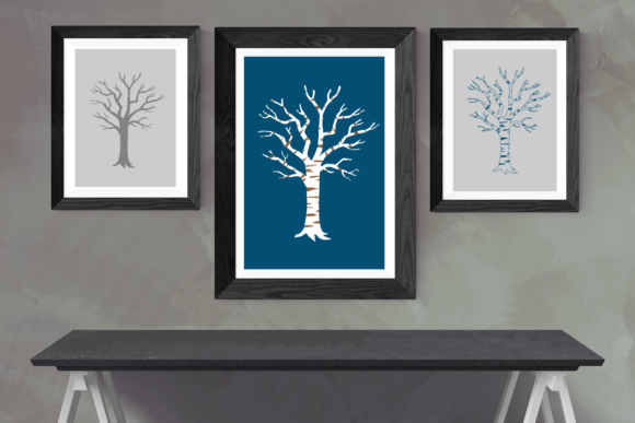Winter Birch Tree Graphic Crafts By RisaRocksIt