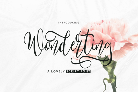 Print on Demand: Wonderting Script Script & Handwritten Font By Ijem RockArt
