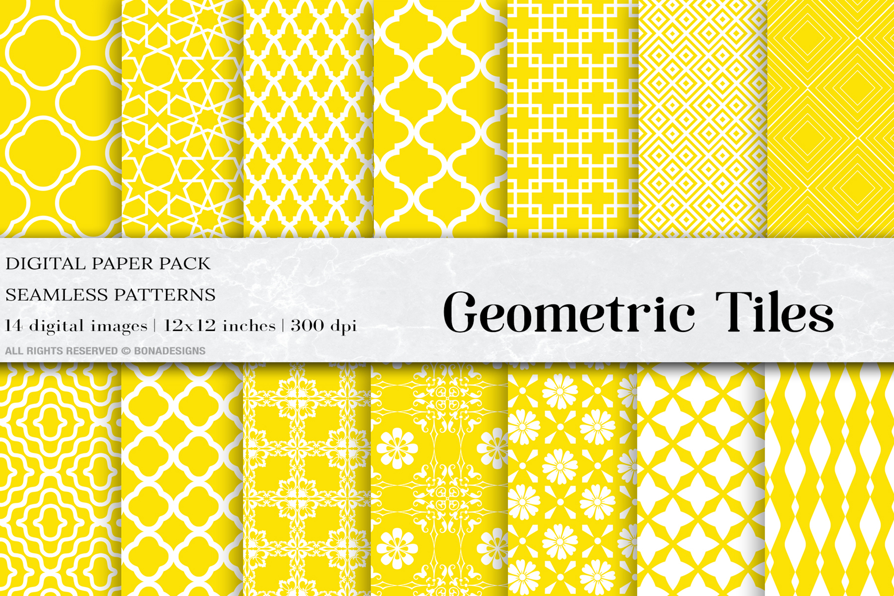 Download Free Yellow Geometric Tiles Graphic By Bonadesigns Creative Fabrica for Cricut Explore, Silhouette and other cutting machines.
