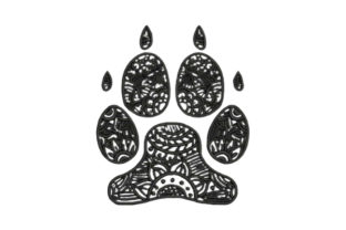 Zentangle Dog Paw Print Zentangle Embroidery Design By Embroidery Designs