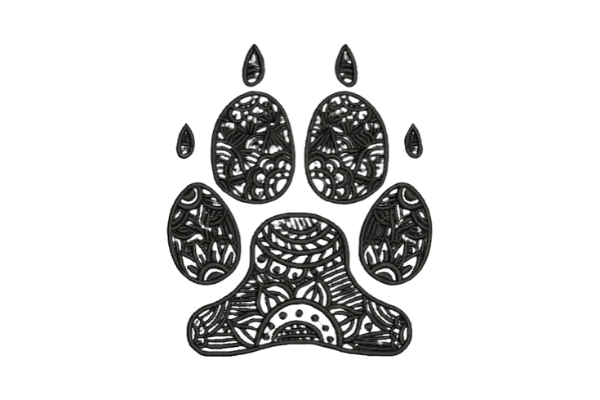 Download Free Zentangle Dog Paw Print Creative Fabrica for Cricut Explore, Silhouette and other cutting machines.