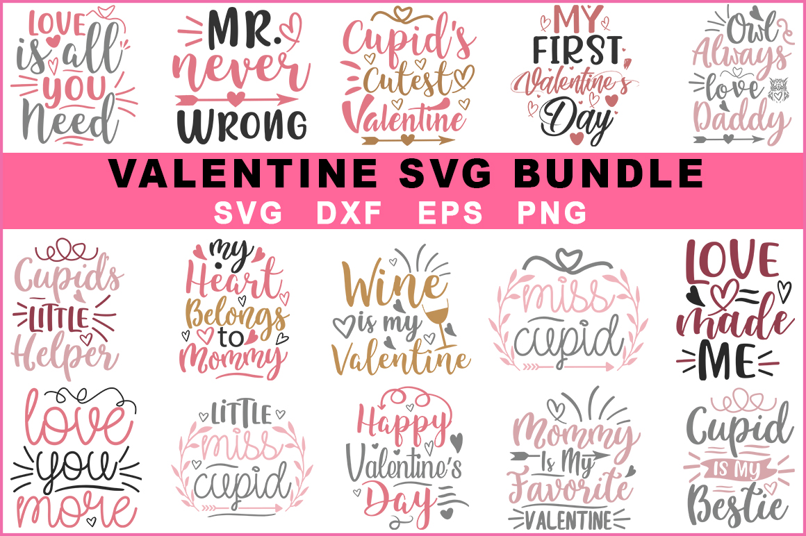 Download Free 15 Valentine S Day Bundle Graphic By Red Box Creative Fabrica for Cricut Explore, Silhouette and other cutting machines.