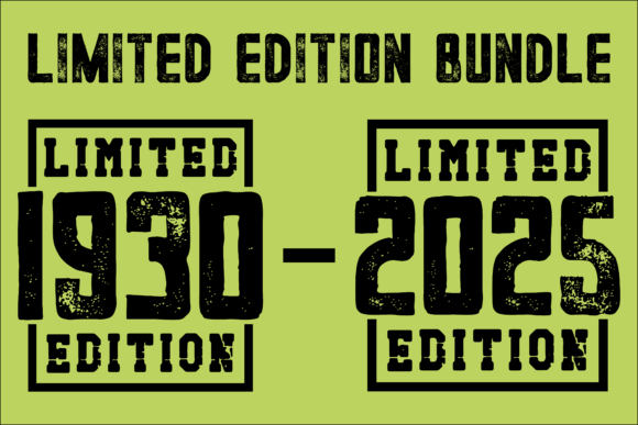 Print on Demand: 1930-2025 Limited Edition Bundle Graphic Illustrations By colorsplash