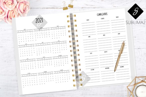 Download Free 2020 Daily Planner Ready To Print Graphic By Sublima2 Creative Fabrica for Cricut Explore, Silhouette and other cutting machines.