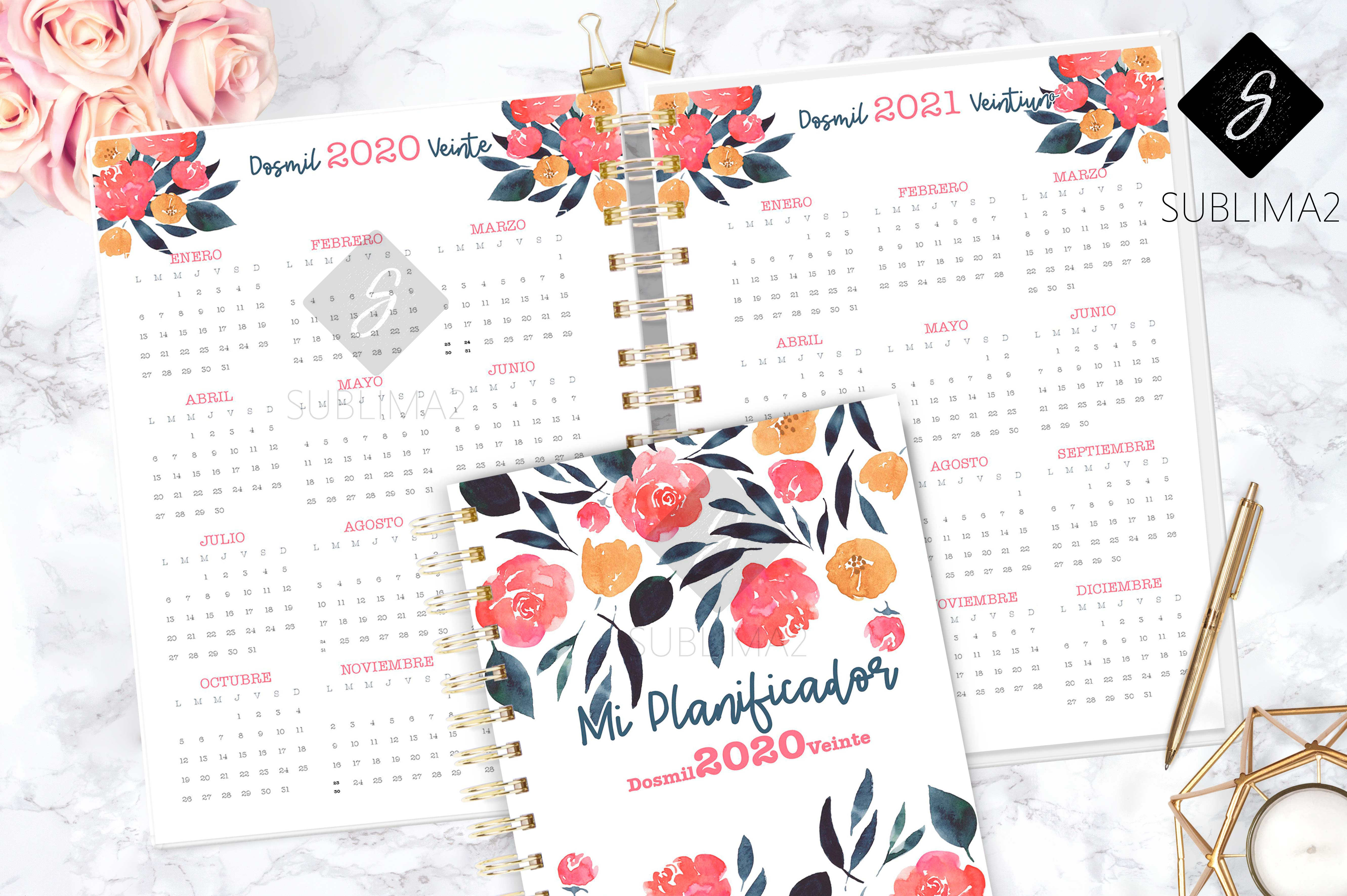 Download Free 2020 Printable Planner Week In Sight Graphic By Sublima2 for Cricut Explore, Silhouette and other cutting machines.