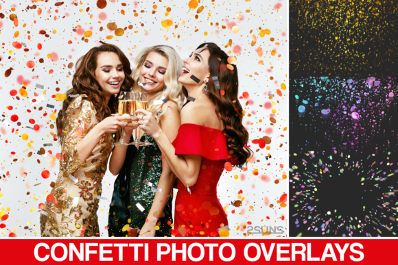 35 Confetti Overlays Graphic Layer Styles By 2SUNS