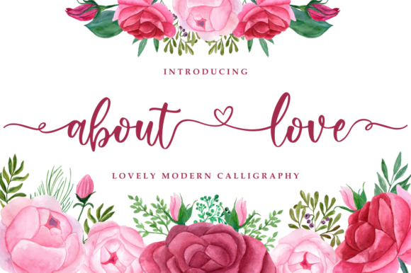 Print on Demand: About Love Script & Handwritten Font By R. Studio