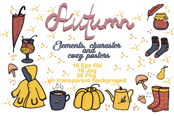 Print on Demand: Autumn Cozy Elements Graphic Illustrations By Zolotovaillustrator