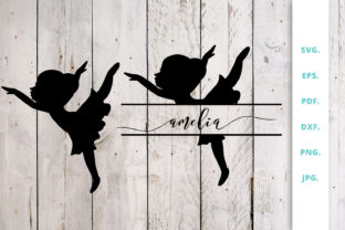 Download Free Ballerina Silhouette And Split Monogram 2 Graphic By Sintegra Creative Fabrica for Cricut Explore, Silhouette and other cutting machines.