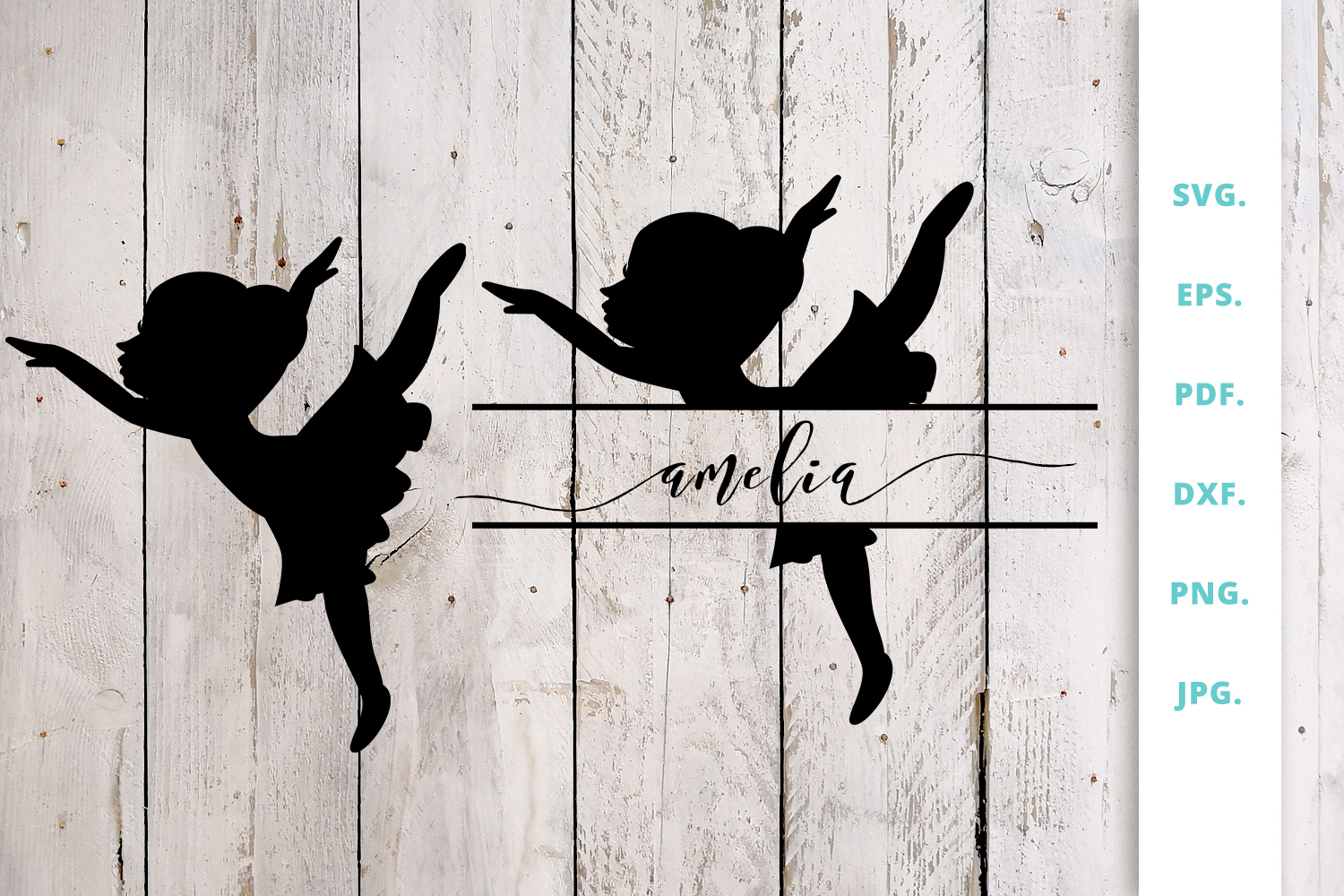 Download Free Ballerina Silhouette And Split Monogram 2 Graphic By Sintegra for Cricut Explore, Silhouette and other cutting machines.