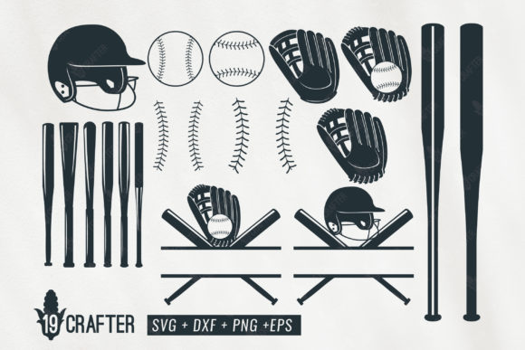 Download Free Baseball Softball Bundle Graphic By Great19 Creative Fabrica for Cricut Explore, Silhouette and other cutting machines.