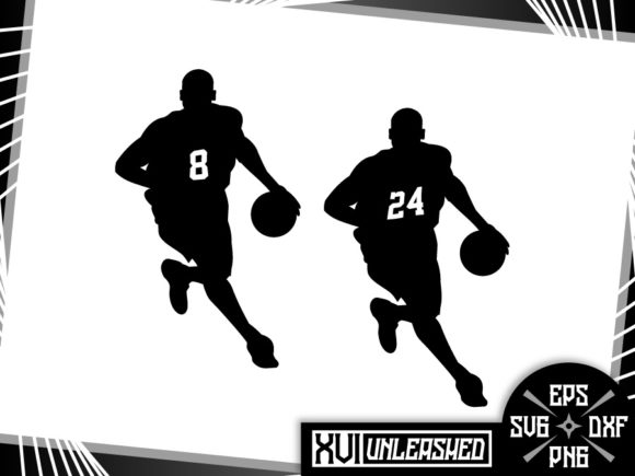 Download Free Basketball Kobe Silhouettes Lakers Graphic By Xvi Unleashed SVG Cut Files